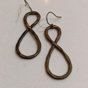Anthropologie infinity earrings
